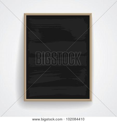 Black Chalkboard With Wooden Frame