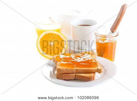 Toasts With Orange Marmalade
