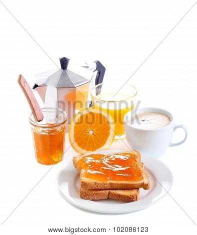 Toasts With Orange Marmalade,