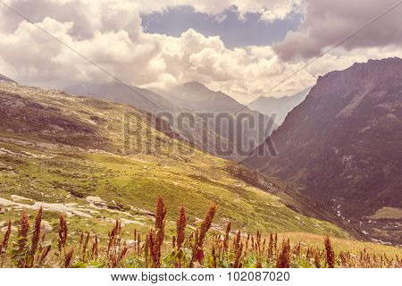 Alpine valley.