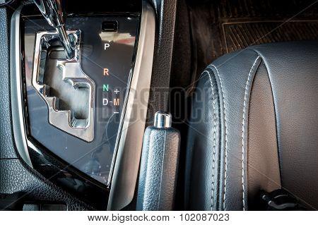 Luxury Modern Gear Shift In Car