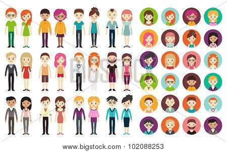 Collection of different men and women