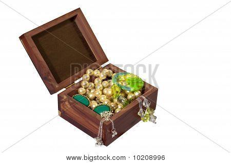 Trinket Box With Jewelery