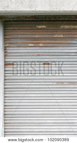 Metal gate door background