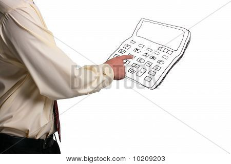 Man Pressing Buttons