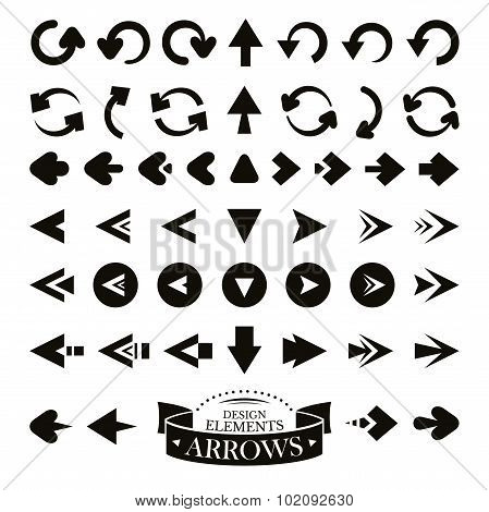 Set Of Different Arrow Icons