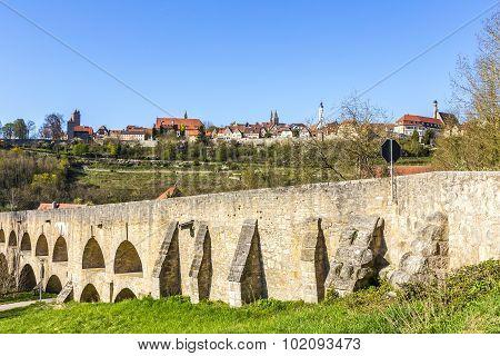 Old Bridge At Rothenburg Ob Der Tauber