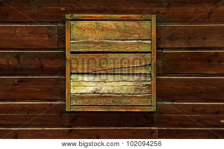 Dark, Brown And Gnarly Wooden Background