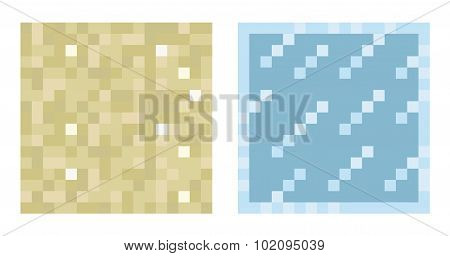 Texture for platformers pixel art vector - sand and glass