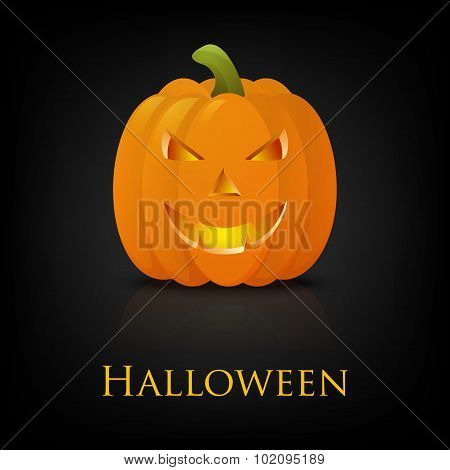 Happy Halloween pumkin. Vector background.