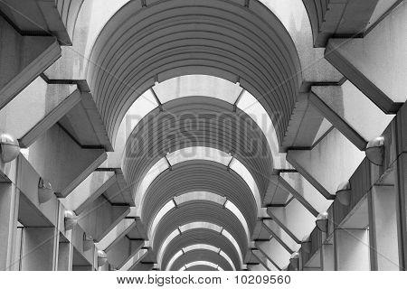 Modern Arched Hallway Ceiling Horizontal