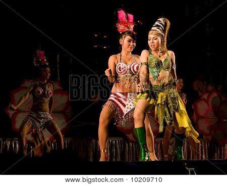 Concert At Temple Fair In Thailand