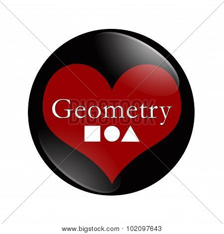 I Love Geometry Button