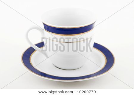 White And Blue Cup Of Coffee