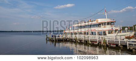 Tourist Boat At The Lake Near Bad Zwischenahn