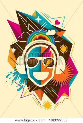 Party background with abstraction. Vector illustration.