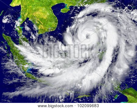 Hurricane Near Southeast Asia