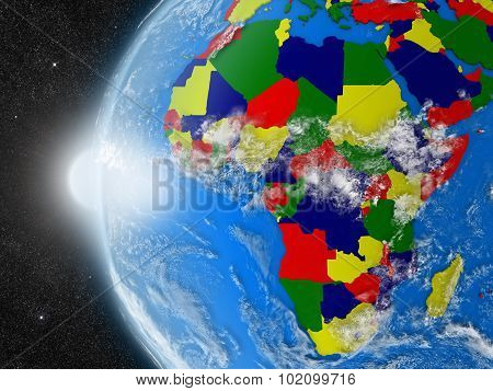 African Continent From Space