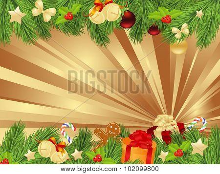 christmas fir frame