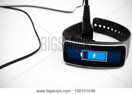 Smart watch charging with micro usb cable.