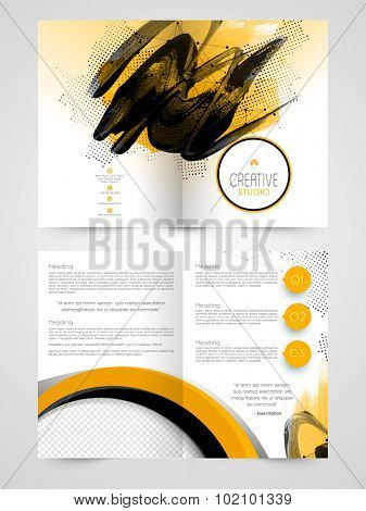 Creative abstract Business Brochure, Template or Flyer design with free space for your image and text.