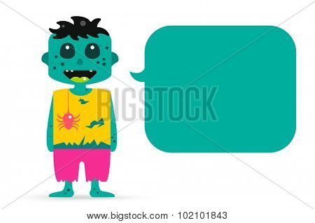 Monster zombie cartoon characters isolated vector silhouette. Cartoon monsters, zombie cartoon flat. Halloween costume character, halloween zombie comic booble. Monster kids costume, zombie cartoon