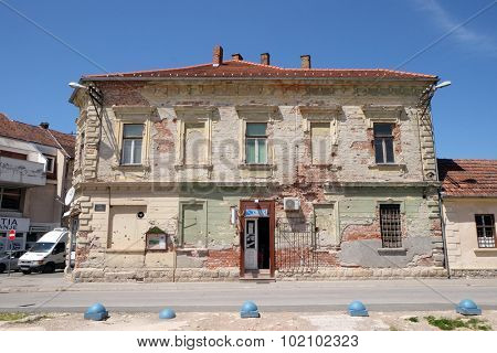 PAKRAC, CROATIA - MAY 07: Destroyed house as war aftermath. The Croatian War of Independence was fought from 1991 to 1995 in Lipik, Croatia on May 07, 2015