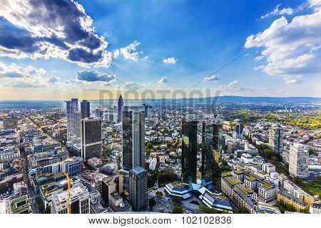 View To Skyline Of Frankfurt From Maintower