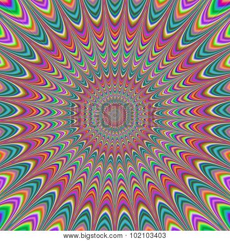 Fullscreen Generated Symmetrical Psychadelic Flower