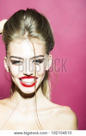 Portrait Of Happy Smiling Woman