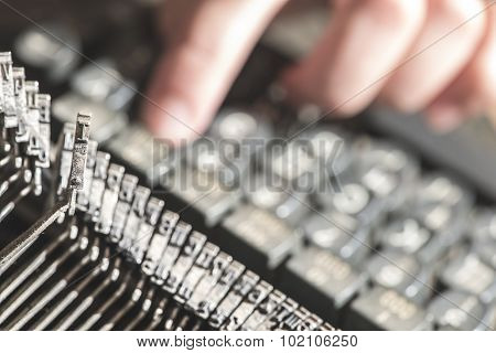 Plate Letter I On A Typewriter