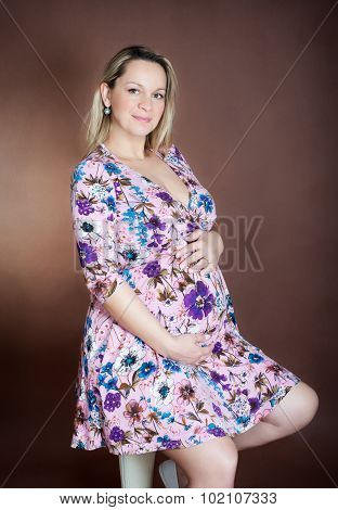 Cute pregnant girl