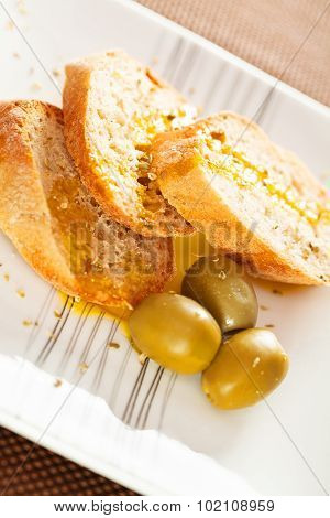 Homemade Baguettes With Ovile Oil