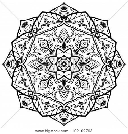 Sketch Of Beautiful Mandala.
