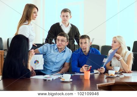 Young Entrepreneurs At A Business Meeting In The Office
