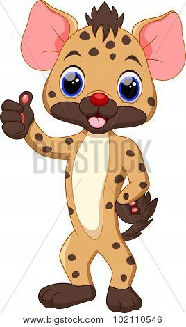 Cute Hyena cartoon