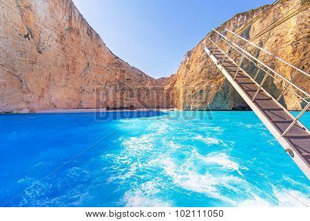 Shipwreck beach on Zakynthos Island, Greece