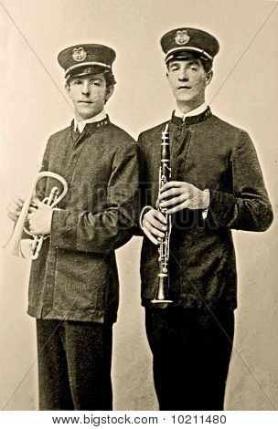 Vintage Photo of 2 Men in a Band