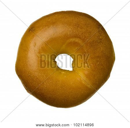 Egg Bagel Against White