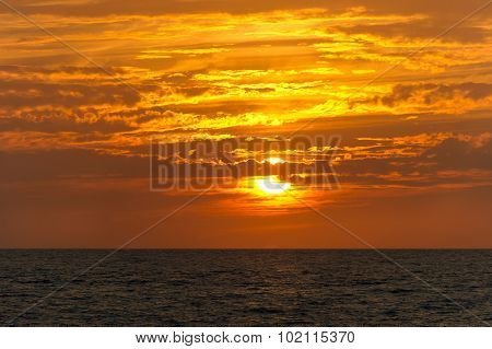 Sunset Clouds Ocean