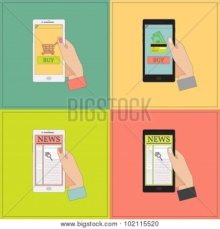 Mobile Shopping And News.