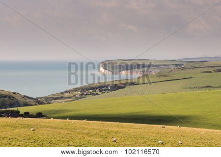 Rural seascape in East Sussex