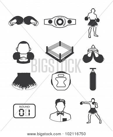 Boxing icons collection