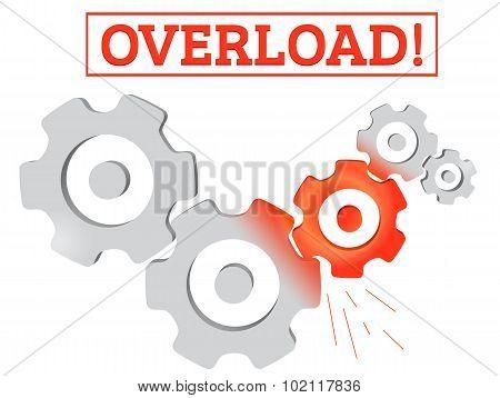 Gears Mechanism Overload Vector Concept