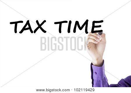Entrepreneur Hand Write Tax Time