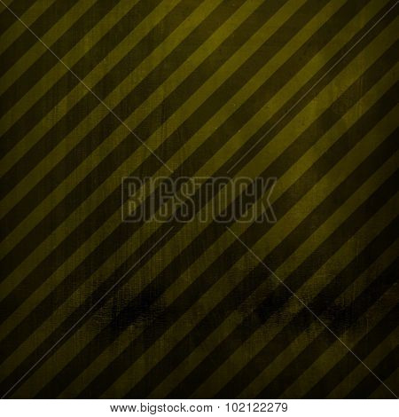 metal plate with warning striped background
