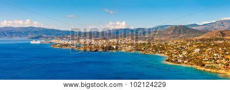 Agios Nikolaos And Mirabello Bay, Crete, Greece