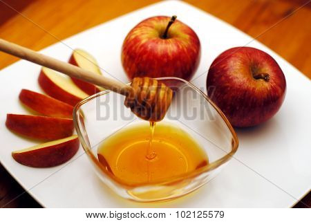 Jewish New Year - Rosh Hashanah - Apple And Honey
