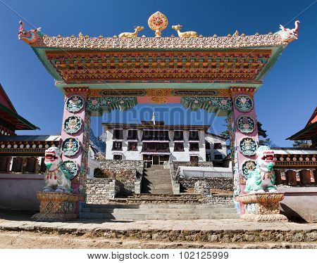 Gateway To Tengboche Gompa Or Monastery