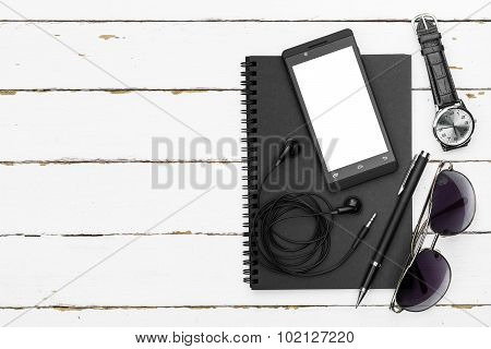 Outfit Of Business Man, Overhead View Photography With Essentials Business Man